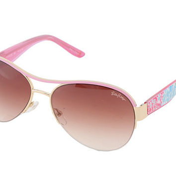 Lilly Pulitzer Carlee Gold/Hibiscus Pink - Zappos.com Free Shipping BOTH Ways