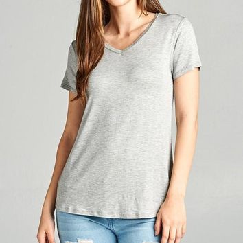 Back To Basics Tee - Heather Grey