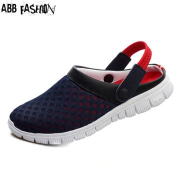 Summer Design Unisex Air Mesh Breathable Women Sandals Flat with Casual Sandals Shoes Beach Flip Flops Slippers Zapatos Mujer