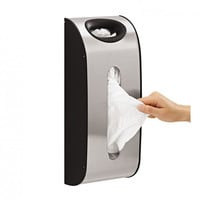 shopnelo Wall Mount Grocery Bag Dispenser, Stainless Steel