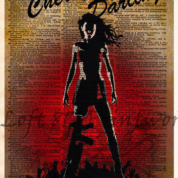 Planet Terror pop art - Cherry Darling - Dictionary page art