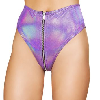 Roma Rave 3538 - 1pc High-Waisted Shorts with Zipper Front Closure