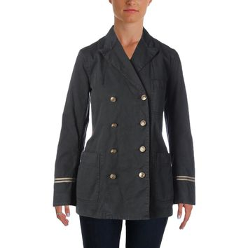 Polo Ralph Lauren Womens Washed-Twill Naval Jacket