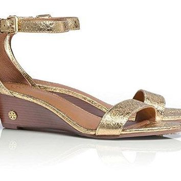 Tory Burch Savannah 45mm Wedge Sandal, Paladium, Size US 8.5