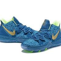 DCCK Nike Kyrie Irving 5 Blue Sport Shoes US7-12
