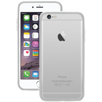 "Macally Iphone 6 Plus 5.5"" Flexible Protective Frame Case (white)"