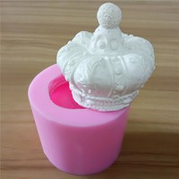 3D Crown Silicone Candle Mod Handmade Silicone Mold for Candle Soap Making