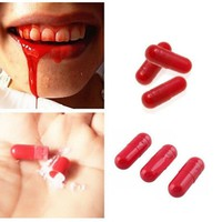 3PCS Spray Blood Pills April Fool's Day Gift Amazing Joke Prank Trick Fun