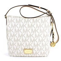 MICHAEL Michael Kors Jet Set Travel Large Messenger Vanilla