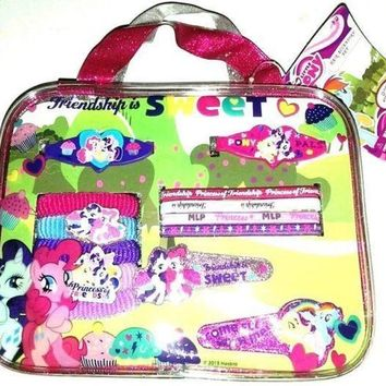 My Little Pony 13 Piece Hair Accessory Set w/Barrettes-Clips-Bonus Carry Bag