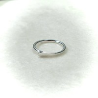 Silver Nose Ring Flat