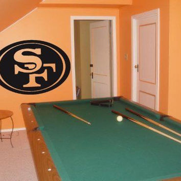 Wall Decal NFL San Francisco 49ers 002 FRST