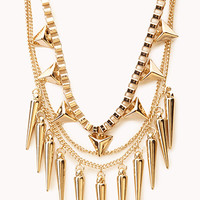 Layered Spiked Necklace