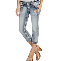 Vigoss Chelsea Denim Crops - Light Blue Wash