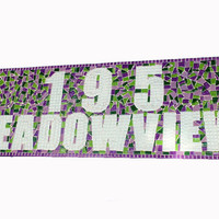 Custom Street Address Sign, Mosaic House Number Plaque