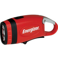 Energizer Weatheready 3-LED Carabineer Rechargeable Crank Light, Red | deviazon.com