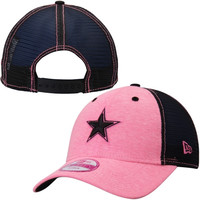 Dallas Cowboys New Era Women's Star Tri-Blend Adjustable Trucker Hat - Charcoal/Pink