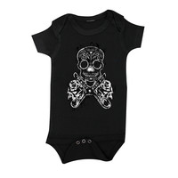 The Alley DIY Sugar Skull Infant Onesuit