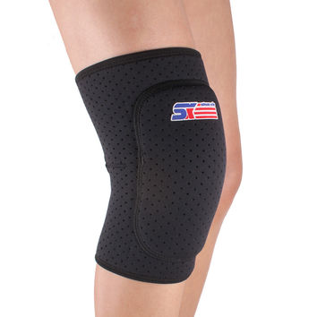 Breathable Knee Supports Brace Wrap Football Basketball Volleyball Durable Knee Protector Guard Pad Thicken Safety Equipment