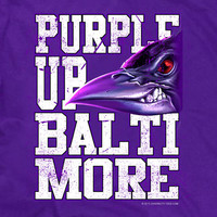 Purple Up Baltimore Raven Fan