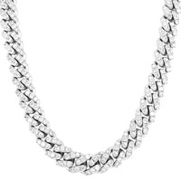 """Custom 12mm Iced Out Miami Cuban 18-24"""" Choker Necklace"""
