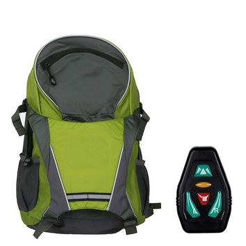 LED Wireless Remote Control Safety Turn Signal Light Backpack Bicycle Riding Night Warning Guiding Light Riding Bag High Quality