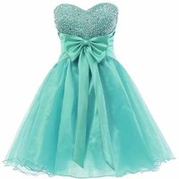 Dresstells® Sweetheart Organza Short Prom Cocktail Patry Dress Homecoming Dress