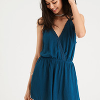 AE LACE TRIM ROMPER, Teal