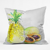 Deb Haugen Pineapple Smoothies Throw Pillow