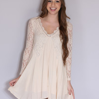Romance is Everywhere Dress - Cream