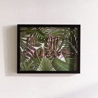 3D Palm Hello Wall Art | Urban Outfitters