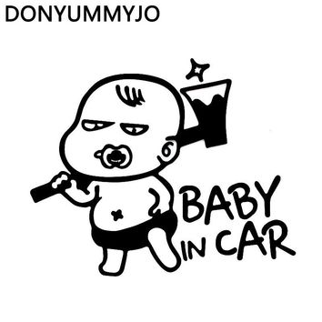 DONYUMMYJO Newest Cute Children Baby in Car Funny car styling High Quality Vinyl Wall Car Stickers and Decals Accessories