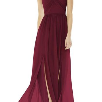 Social Bridesmaids Strapless Georgette Gown | Nordstrom
