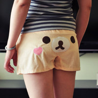 Japan Cartoon Bear Rilakkuma San-X Lounge Pant Sleep Shorts Sleepware Bottom