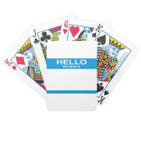 Hello My Name Is ... Bicycle Playing Cards