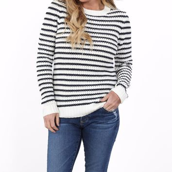 Dawson Striped Crew Sweater