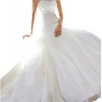One Shoulder Chiffon Plus Size Wedding Dresses for Bride Formal 2015 New