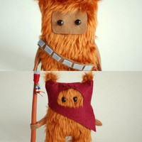 Star Wars Ewok and Chewie