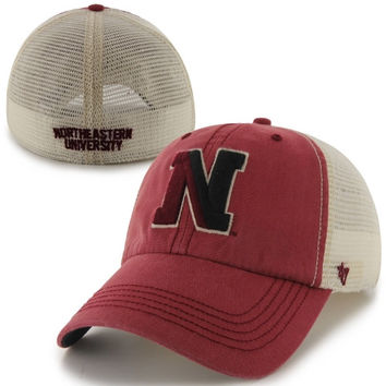 47 Brand Northeastern Huskies Caprock Canyon Flex Hat - Red/White