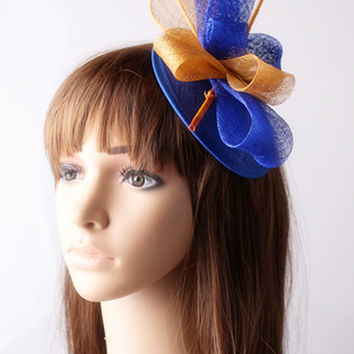 Multiple color fascinator headwear sinamay base and trims party hair accessories fancy race and party hats cocktail headpiece