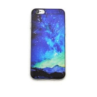 iPhone 6 Clear Case Aurora Borealis iPhone 6 Plus Soft Case Northern Lights iPhone 6 Plus Slim Design Case Sky Clouds Nature 1292