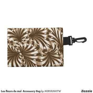 Les fleurs du mal Accessory Bag from Zazzle.com
