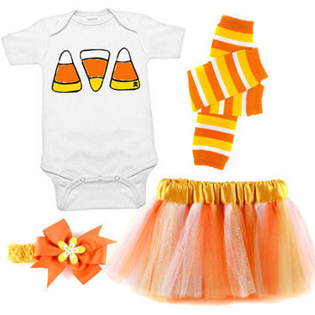 Candy Corn Deluxe 4 Piece Costume Set