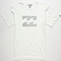 Billabong Ghosted Mens T-Shirt White  In Sizes