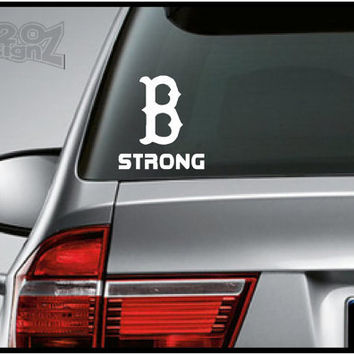 Boston Strong  / B strong   Bumper sticker car decal by 420DesignZ