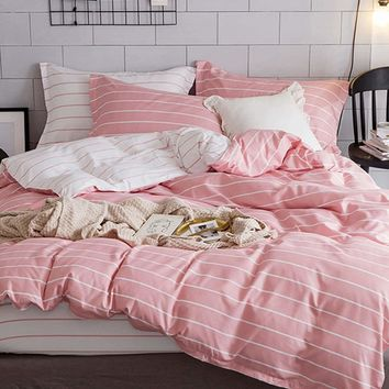 Pencil Striped Duvet Cover Set