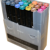 Spectrum Noir Alcohol Markers Darks - 24 Pack