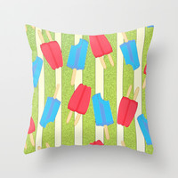 Just One Lick Throw Pillow by tracimaturo