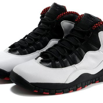 "[Free Shipping]Air Jordan 10 Retro ""Chicago"" - 310805 100 Basketball Sneaker"
