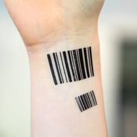 Spirit Ink Temporary Tattoo - Barcode